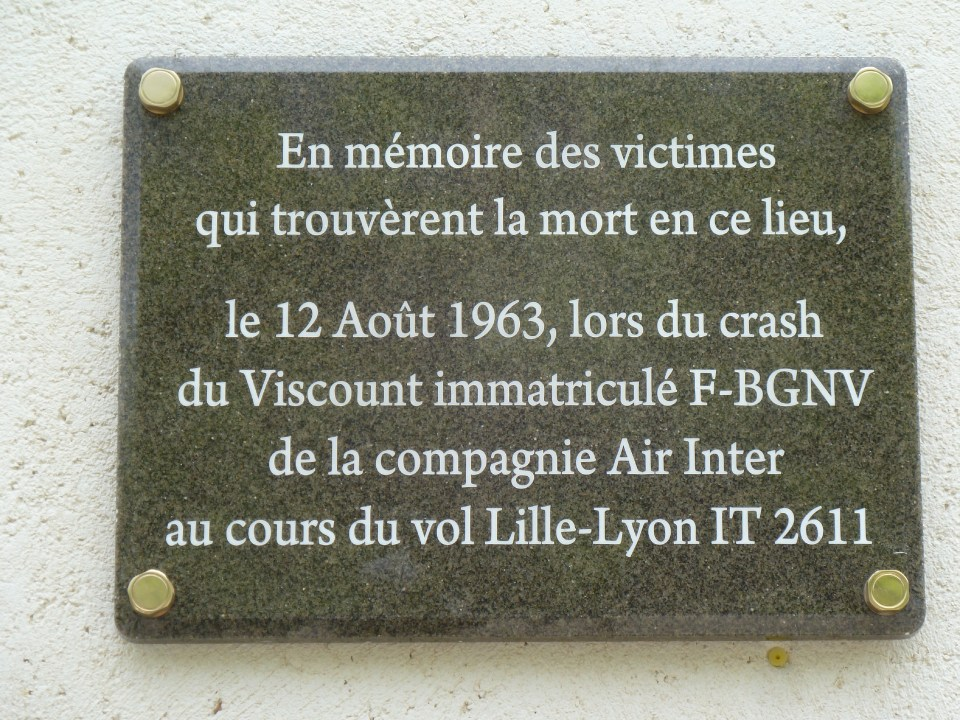 Plaque Viscount F-BGNX Tramoyes Ain (01)