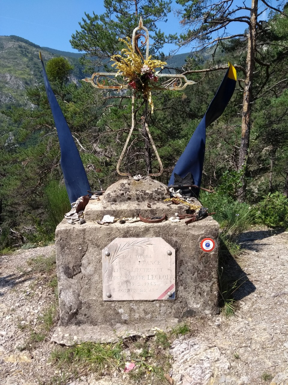 Memorial Georges Pierre LECLOUX Lantosque Alpes-Maritimes (06)