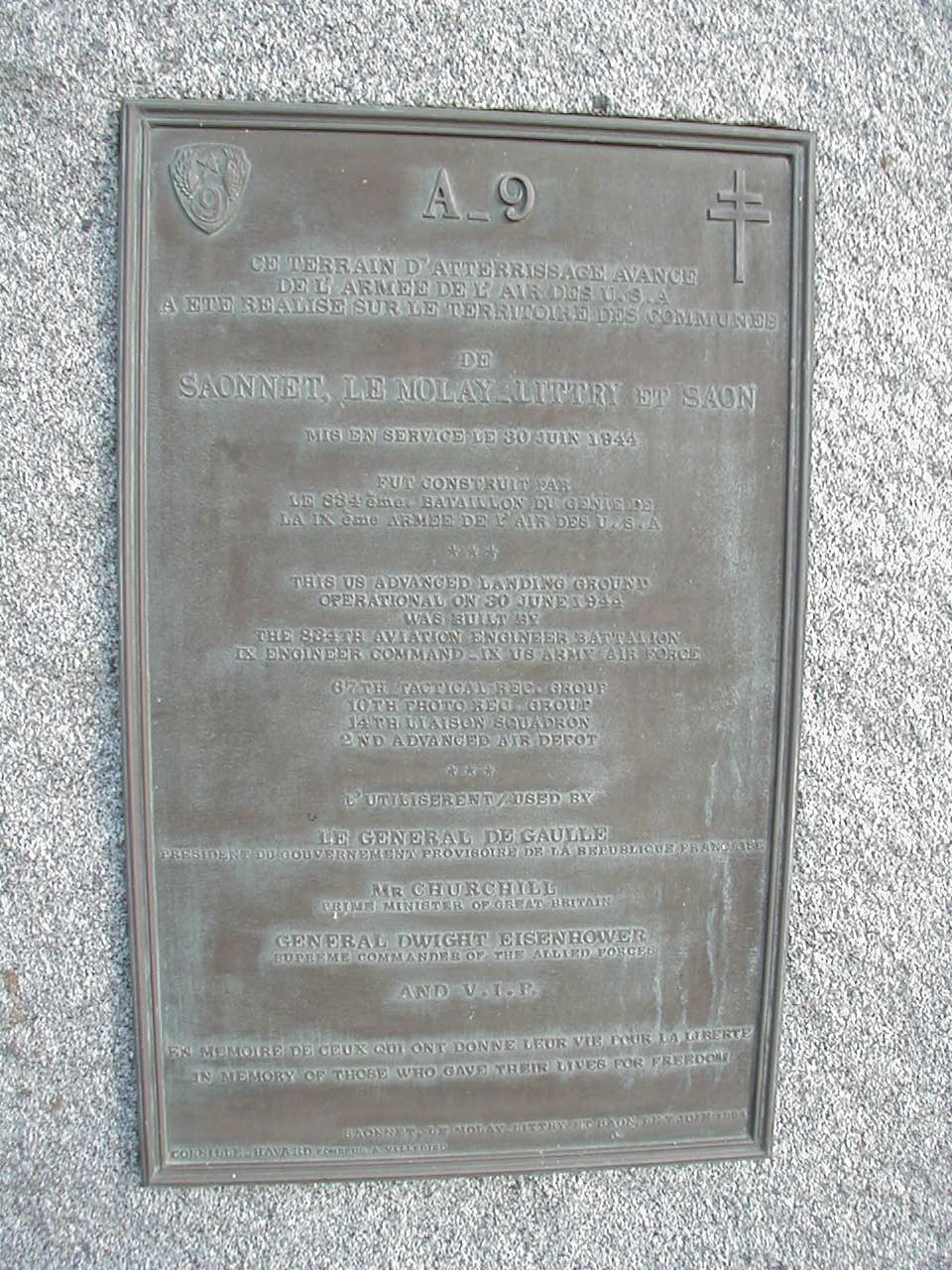 Memorial A閞odrome US A-9 Le Molay-Littry Le Molay-Littry Calvados (14)