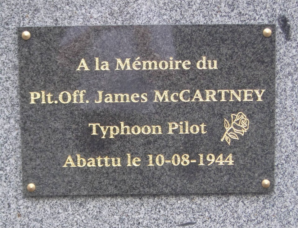 St鑜e Pilot Officer John Mc CARTNEY Le Hom Calvados (14)