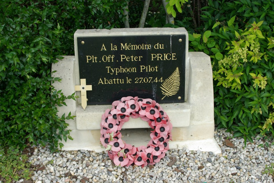 Memorial Pilot Officer Peter Price Valambray Calvados (14)