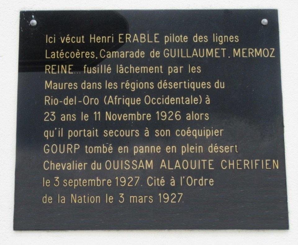 Plaque Henri Erable - Jean Coupet Les Mathes Charente-Maritime (17)