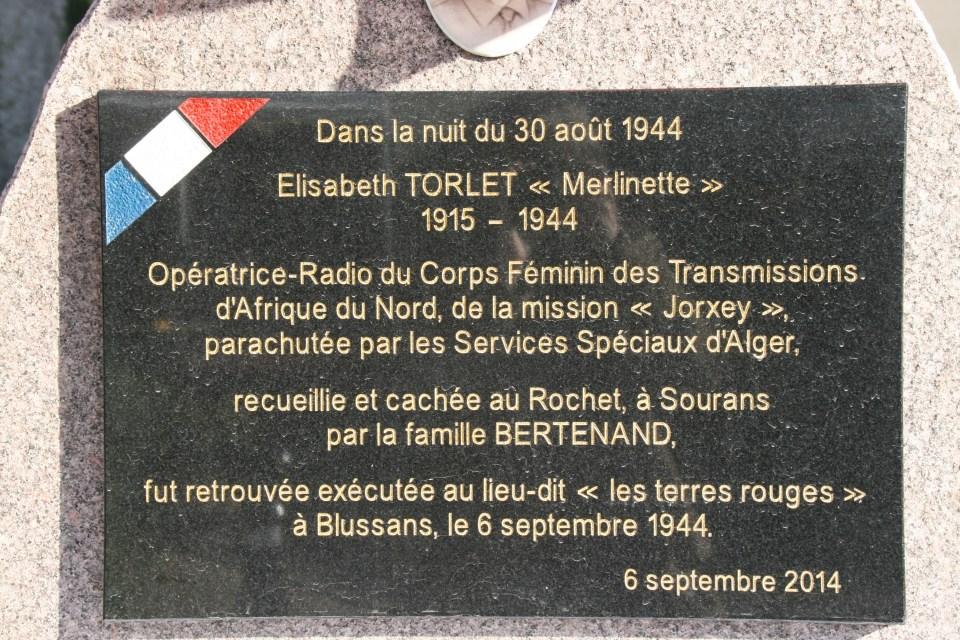 Memorial Opératrices du Corps Féminin des Transmissions d'Afrique du Nord Blussans Doubs (25)
