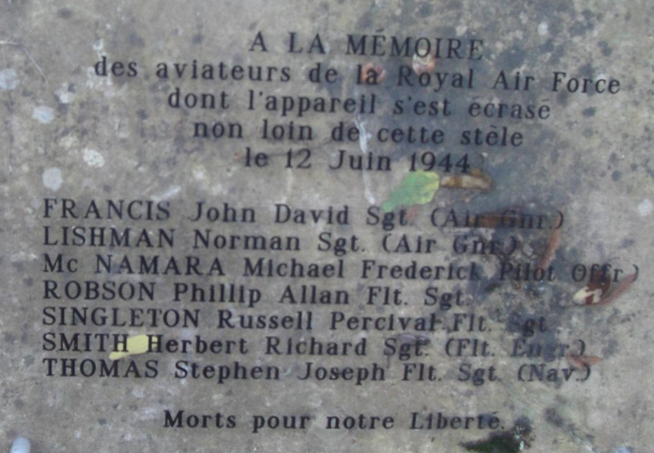 Memorial Halifax MZ651 Autheuil-Authouillet Eure (27)