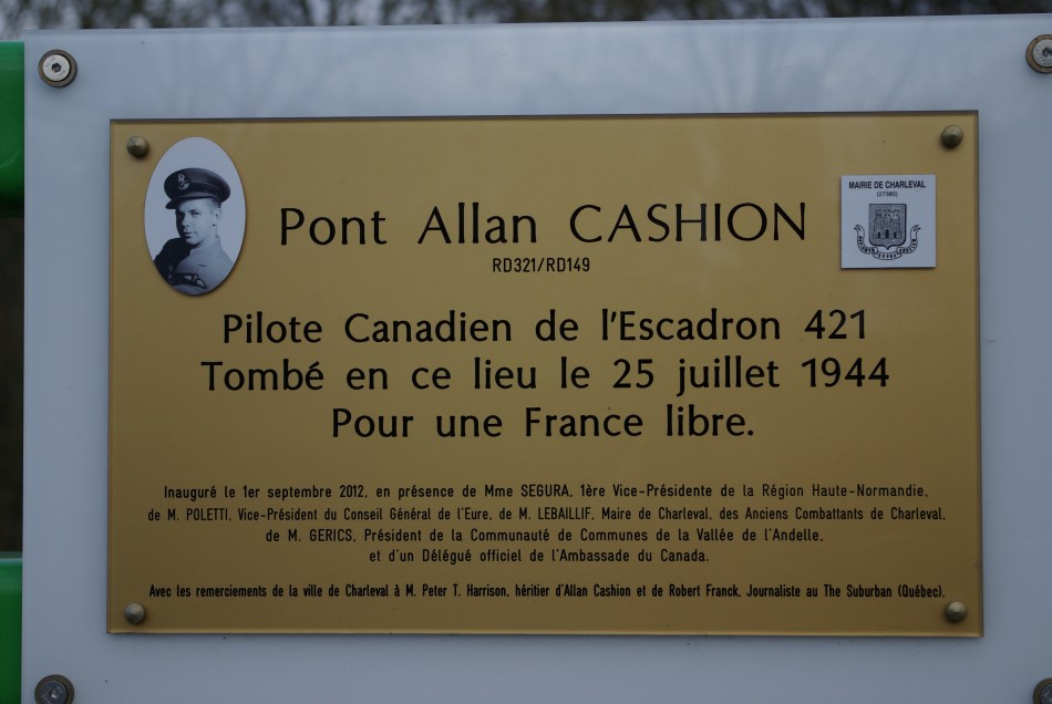 Plaque Allan Cashion Charleval Eure (27)