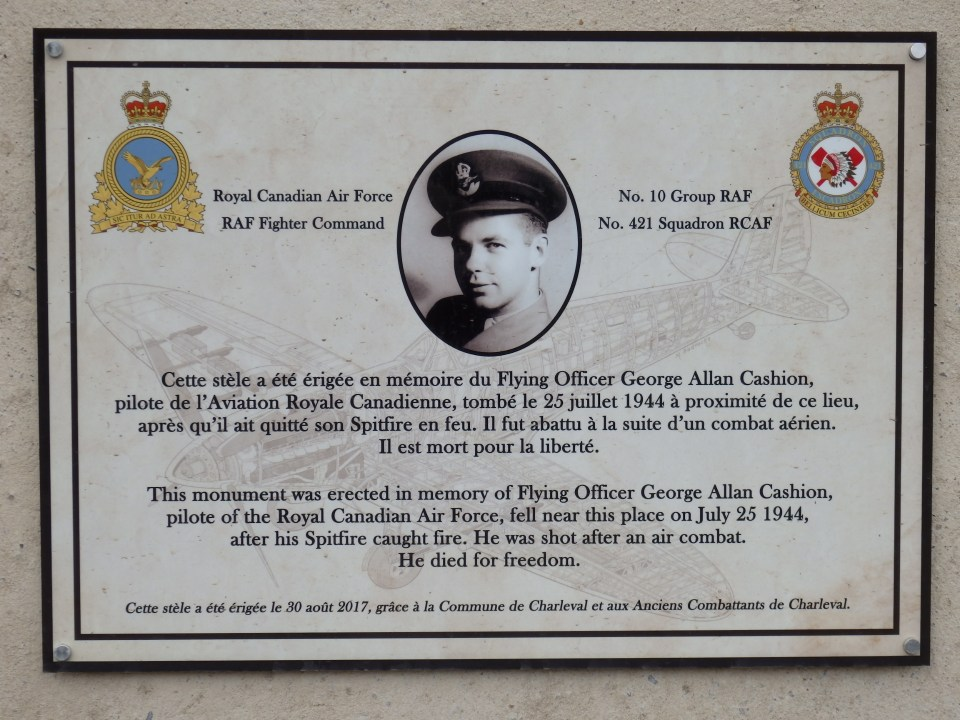 Memorial Allan Cashion (pont) Charleval Eure (27)