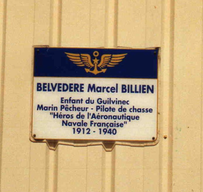 Plaque Marcel Billien Guilvinec Finist鑢e (29)