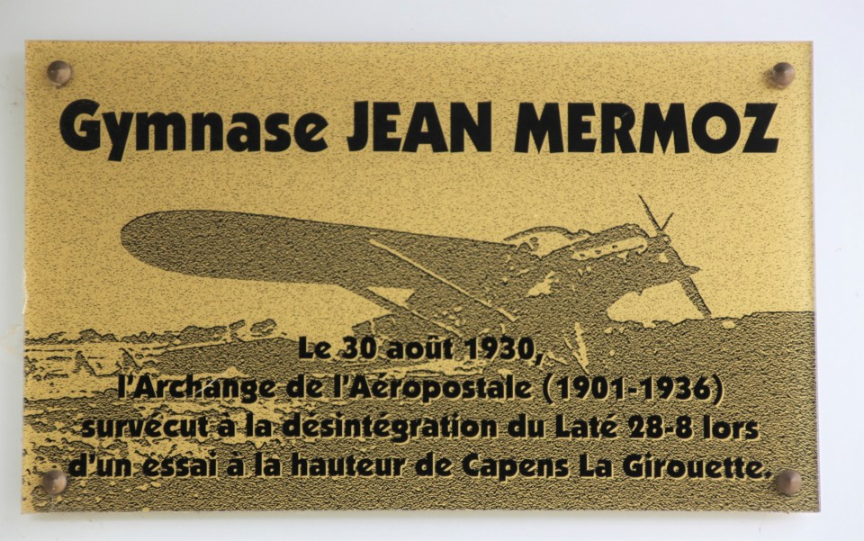 Plaque Jean Mermoz accident Laté 28-8 Noé Haute-Garonne (31)