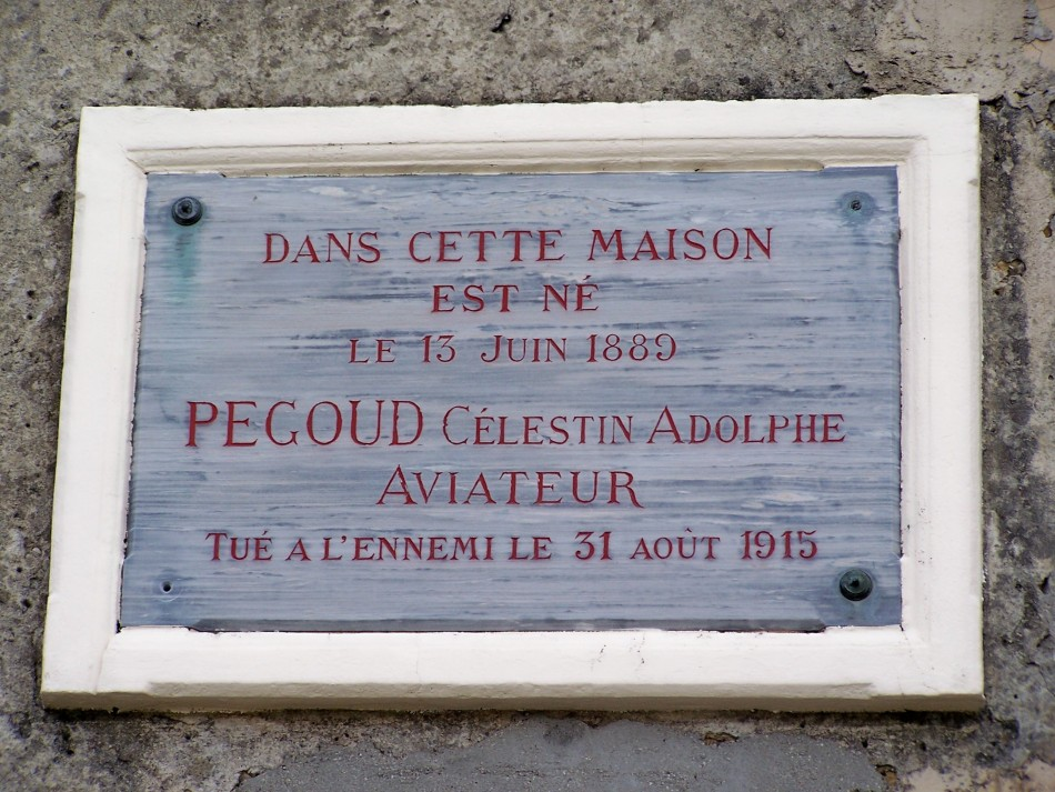 Plaque Adolphe P�goud (maison natale) Montferrat Is�re (38)