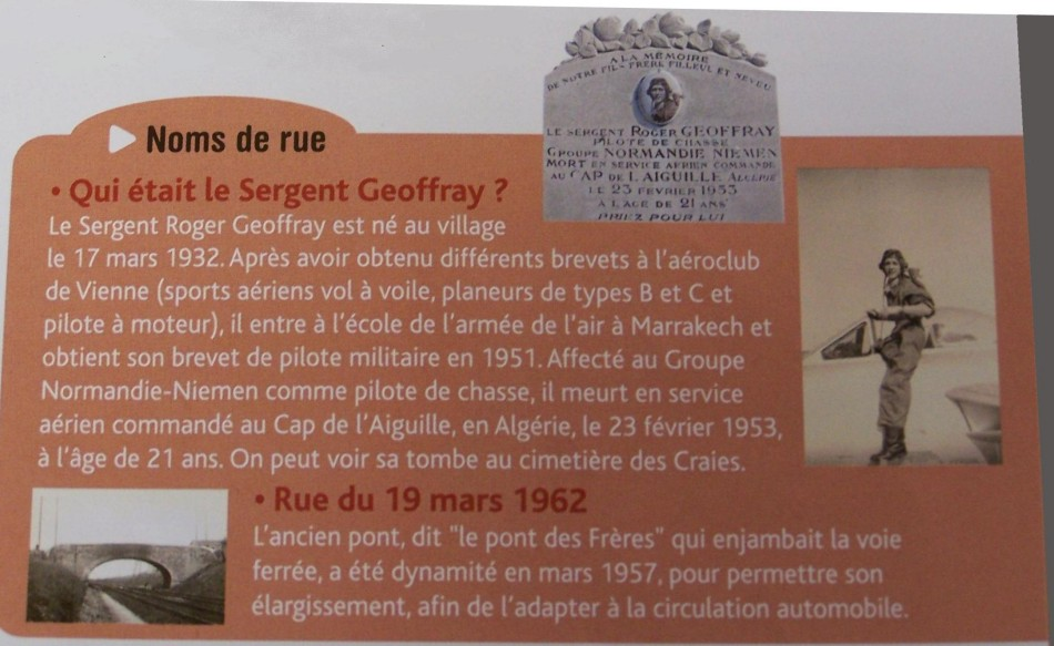 Tombe/C閚otaphe Sergent Roger Geoffray Saint-Maurice-l'Exil Is鑢e (38)