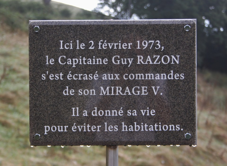 Plaque Capitaine Guy Razon R間ny Loire (42)