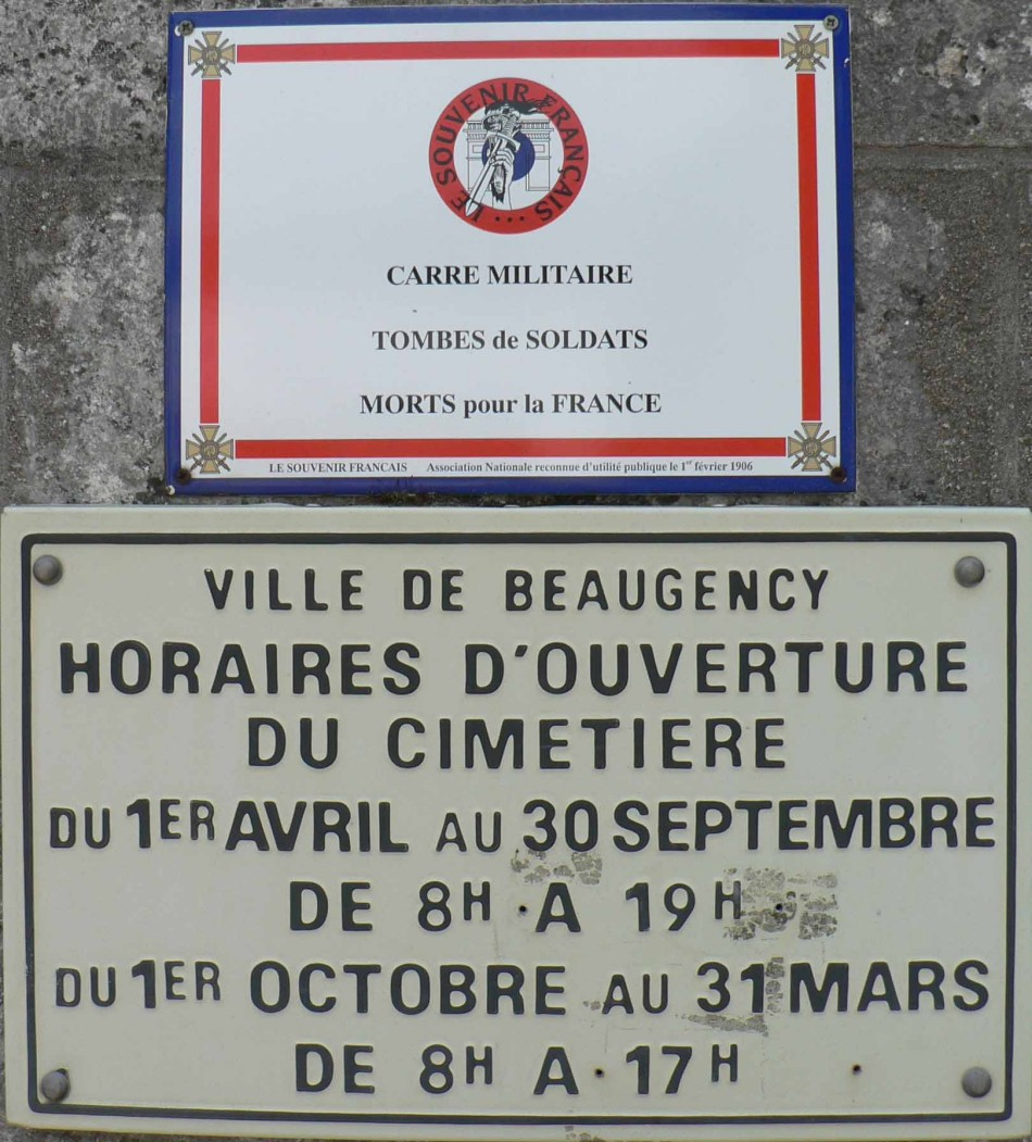 Tombe/Cénotaphe Colonel Jean Demozay dit Morlaix Beaugency Loiret (45)