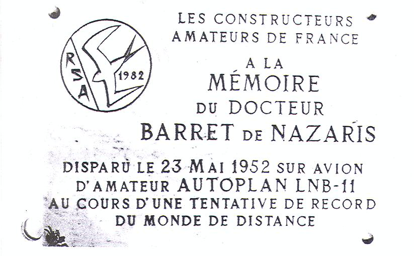 Stèle Docteur Barret de Nazaris Pradines Lot (46)