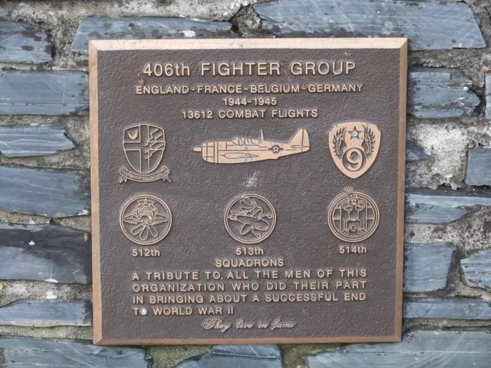 Memorial 406th Fighter Group Agneaux Manche (50)