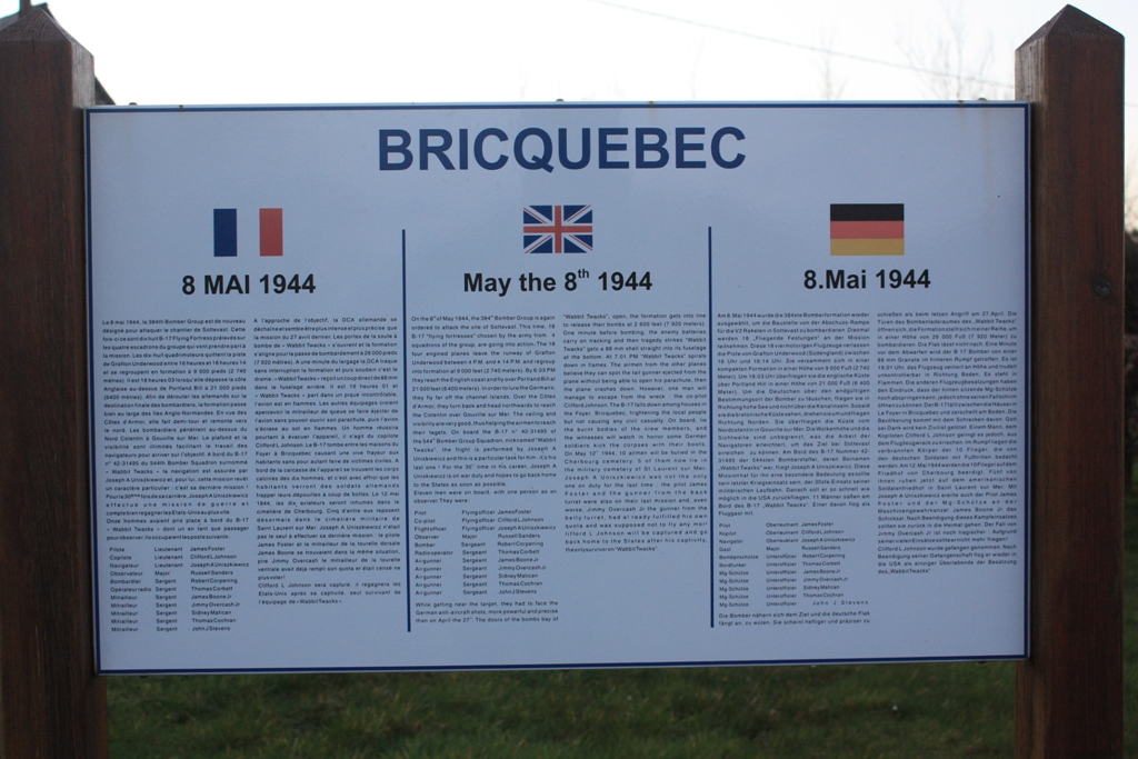 Memorial B-17 May 8th 1944 Bricquebec-en-Cotentin Manche (50)