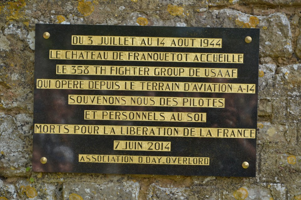 Plaque 358th Fighter Group Montsenelle Manche (50)