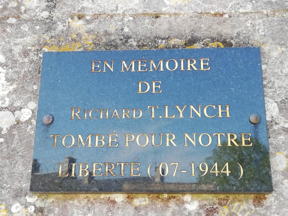 Plaque Richard T LYNCH Regnéville-sur-Mer Manche (50)