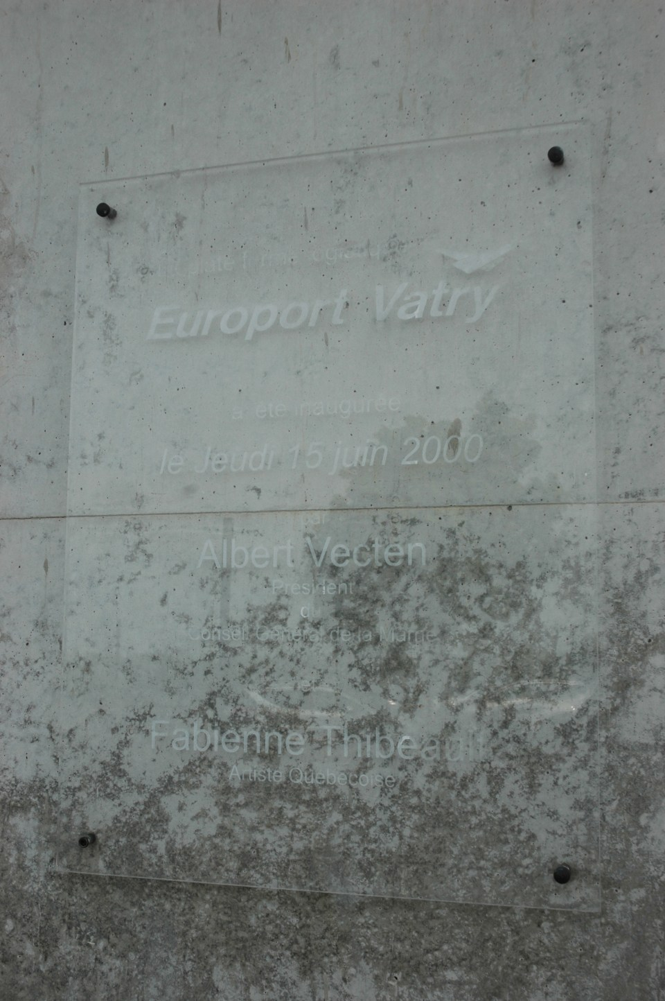 Plaque Europort Paris Vatry Bussy-Lettrée Marne (51)
