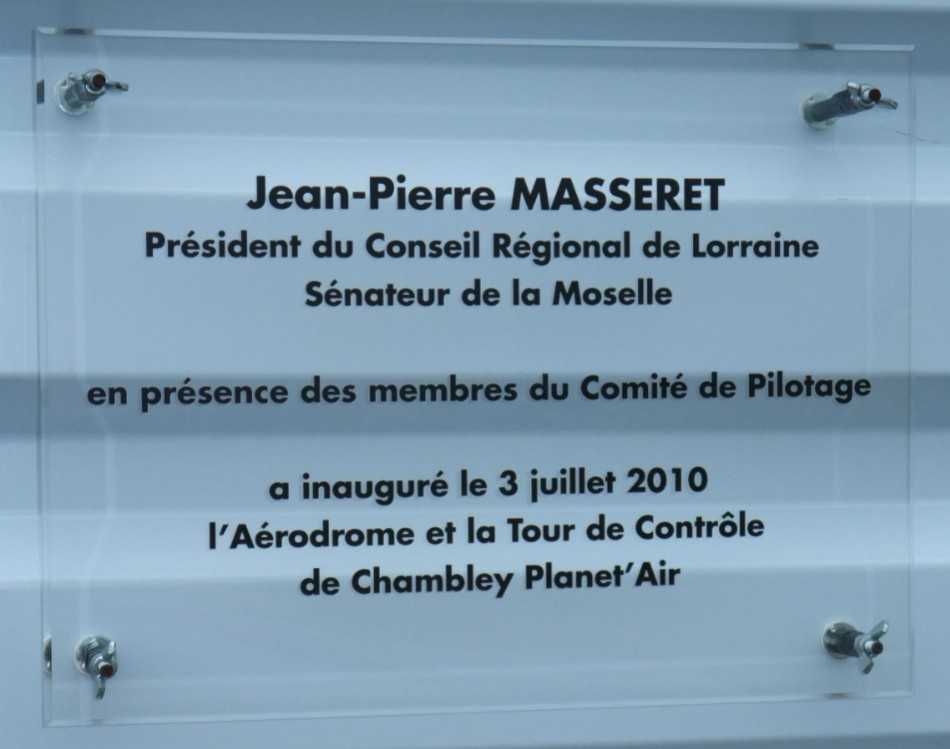 Plaque Chambley Planet'Air Hag関ille Meurthe-et-Moselle (54), A閞odrome Chambley