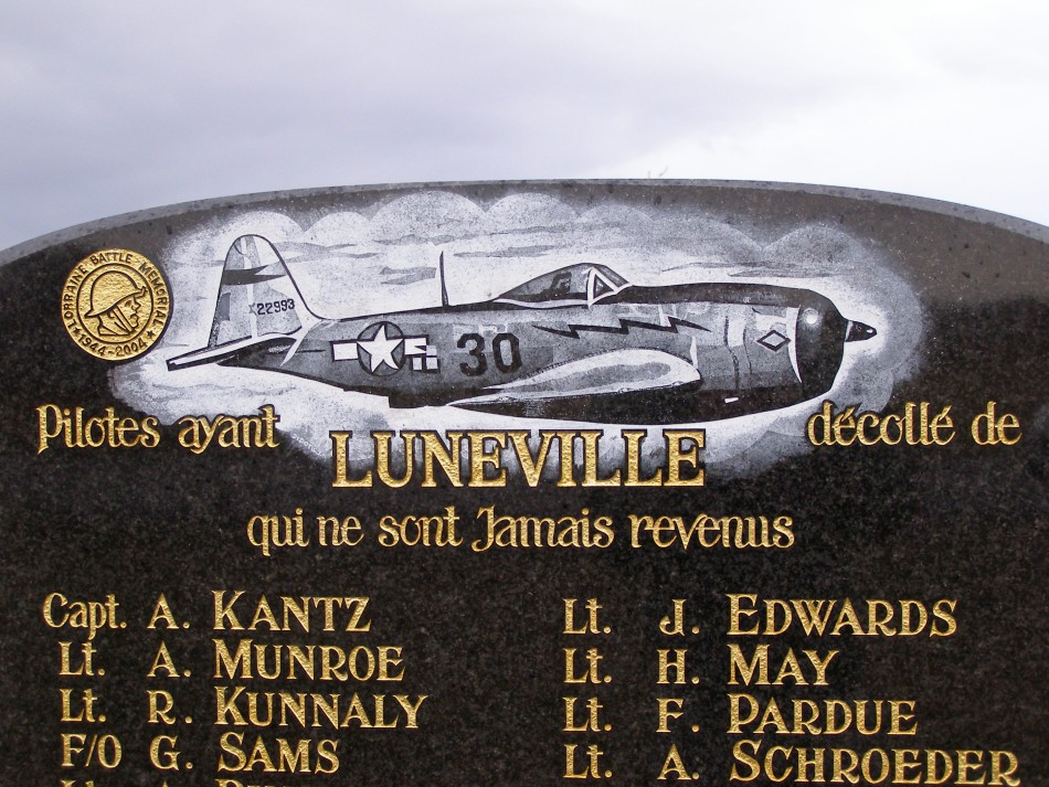 Memorial Alford R. MUNRO Chanteheux Meurthe-et-Moselle (54), Lun関ille Croismare airfield