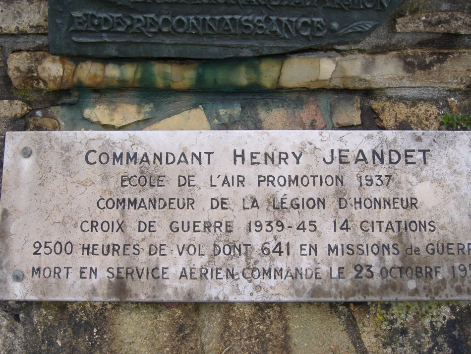 Memorial Commandant Henry Jeandet BA 133 NANCY-OCHEY Thuilley-aux-Groseilles Meurthe-et-Moselle (54), Nancy Ochey + BA 133 airfield