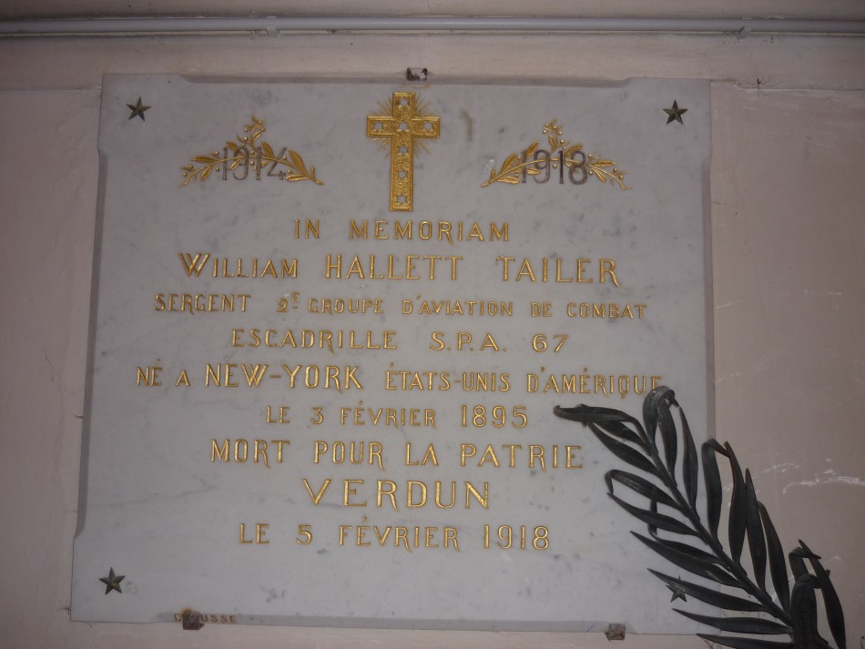 Plaque Sergent William HALLETT TAILER Beausite Meuse (55)