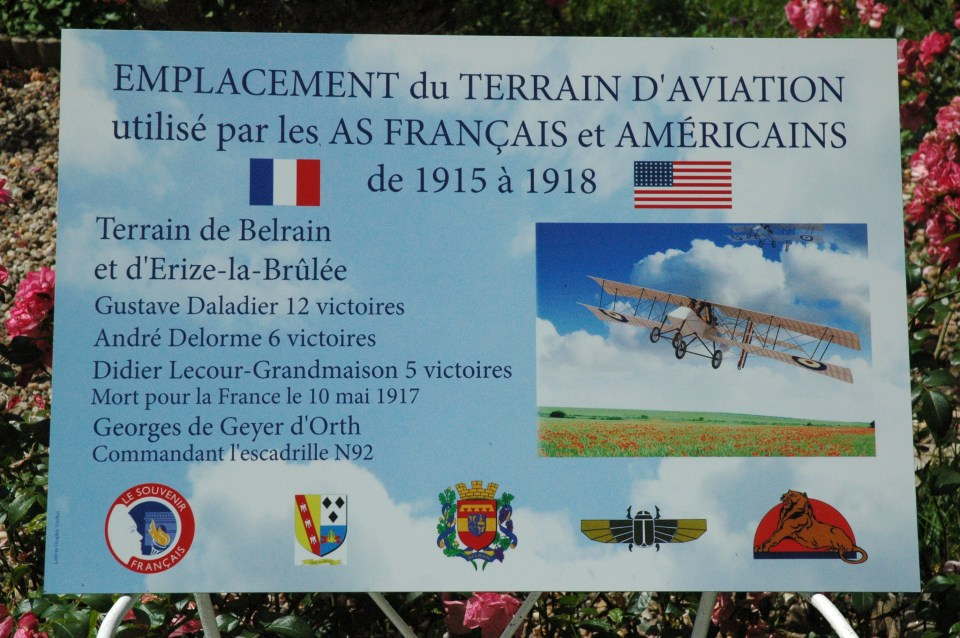 Sign Terrain d'aviation militaire 14-18 Belrain Meuse (55)