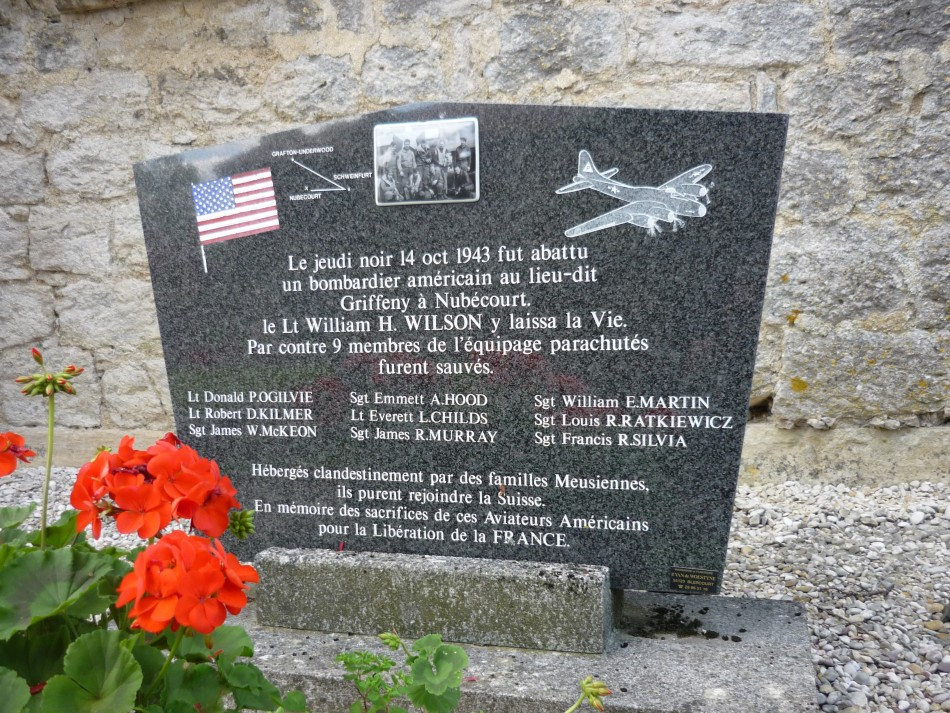 Memorial B-17 October 14, 1943 Nubécourt Meuse (55)