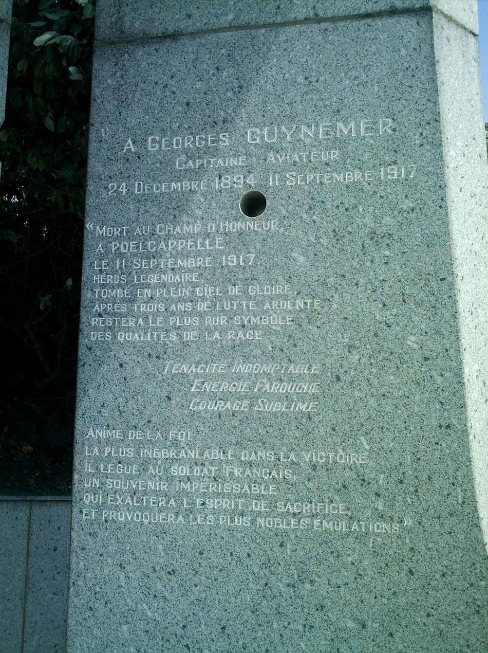 Memorial Georges Guynemer Dunkerque Nord (59)