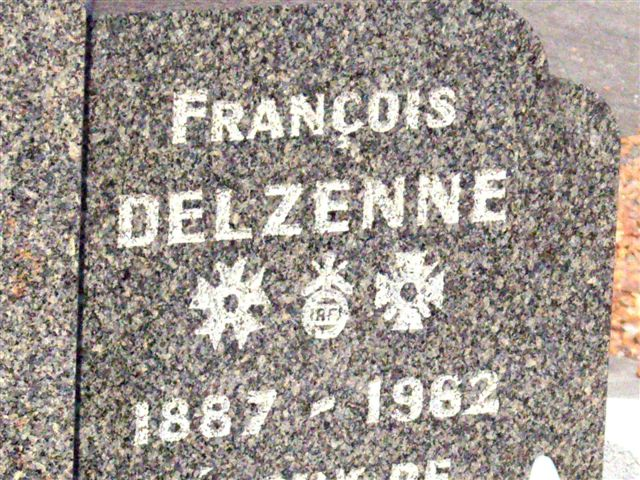 Tombe/C閚otaphe Fran鏾is DELZENNE R鈉hes Nord (59)