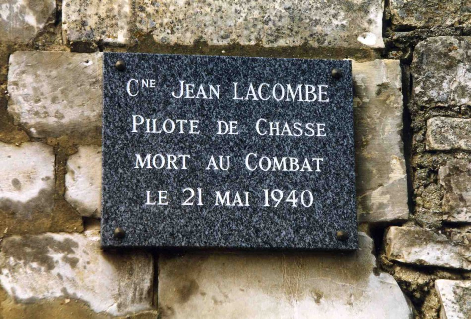 Plaque Capitaine Jean Lacombe du III/7 Remy Oise (60)