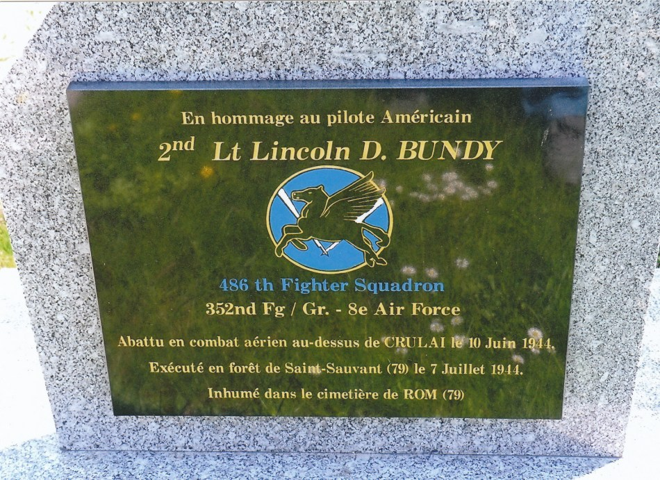 St鑜e 2nd Lt. Lincoln D. Bundy Crulai Orne (61)