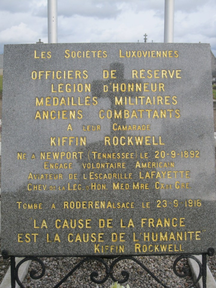 Memorial Kiffin Rockwell Luxeuil-les-Bains Haute-Saône (70)
