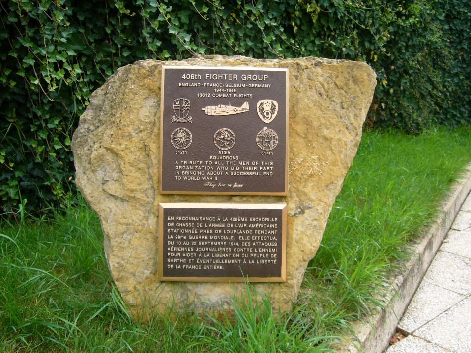 Memorial 406th Fighter Group Louplande Sarthe (72)