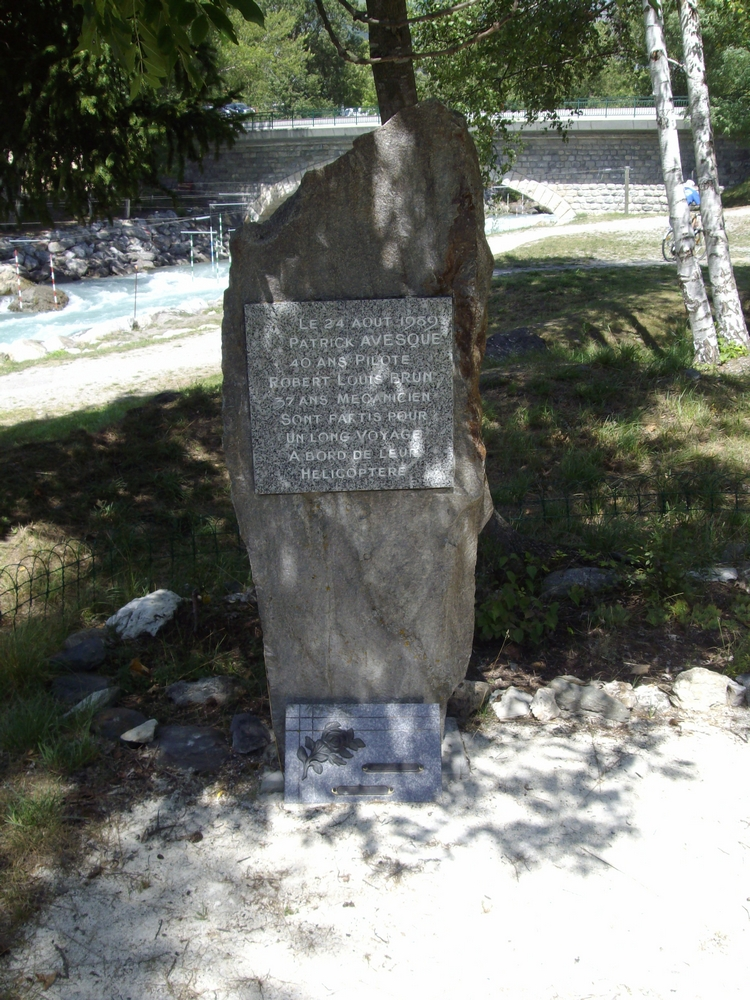 Memorial Patrick Avesque - Robert Louis Brun Bourg-Saint-Maurice Savoie (73)