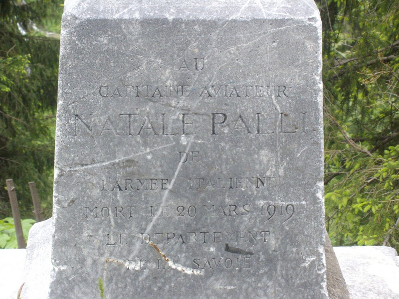 Memorial Capitaine aviateur Natale Palli Sainte-Foy-Tarentaise Savoie (73)