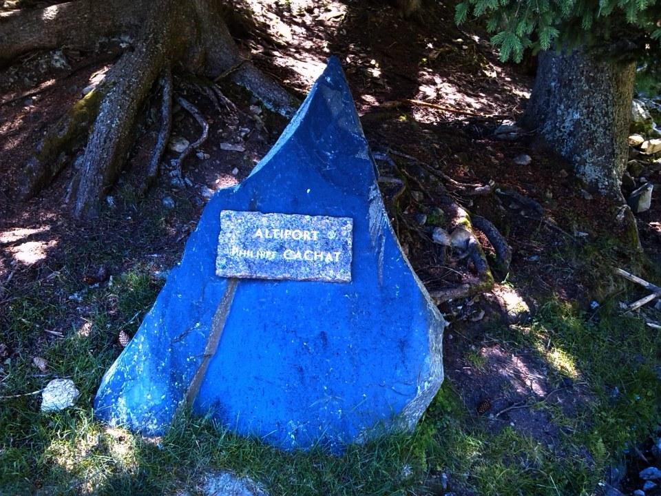 Stèle Altiport Philippe Cachat Les Houches Haute-Savoie (74)