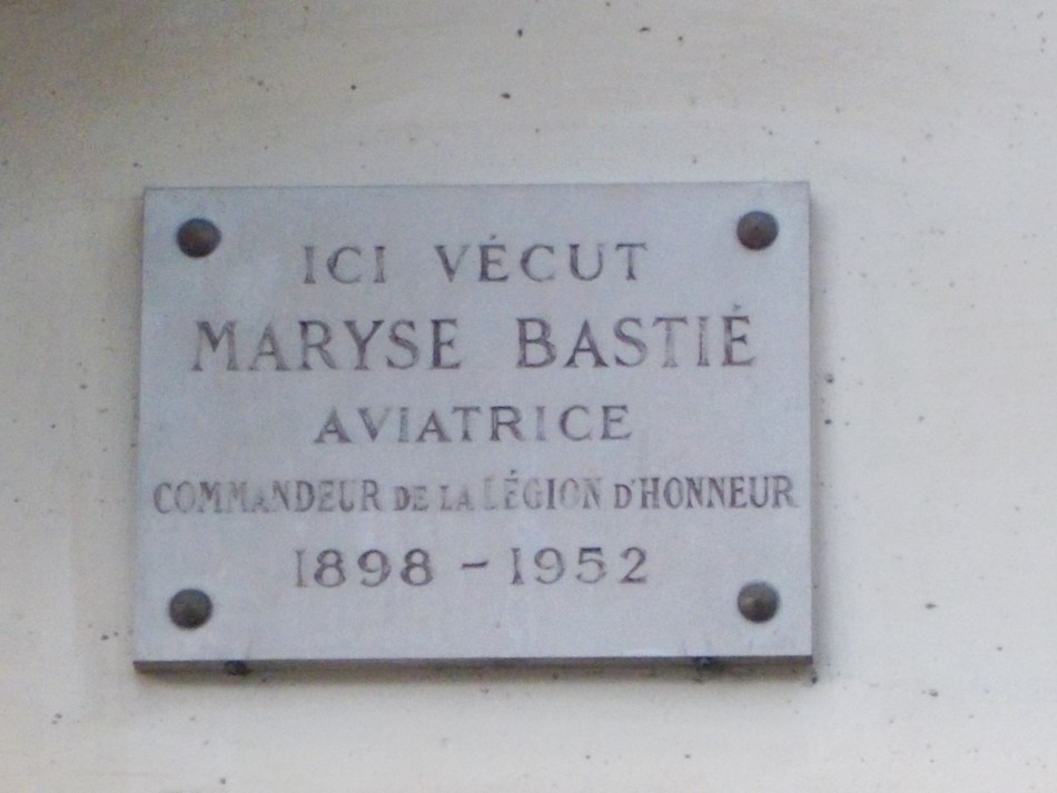 Plaque Maison de Maryse Bastié Paris 14ème Paris (75)