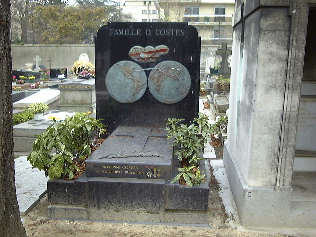 Tombe Dieudonné Costes Paris 16ème (Cim. Passy) Paris (75)