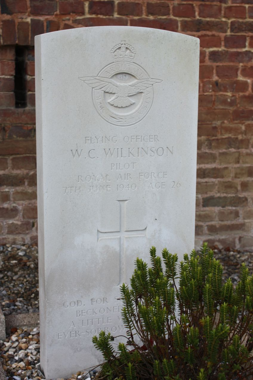 Sign Lieutenant Flying Officer Wiliam Campbell Wilkinson Bailleul-Neuville Seine-Maritime (76)