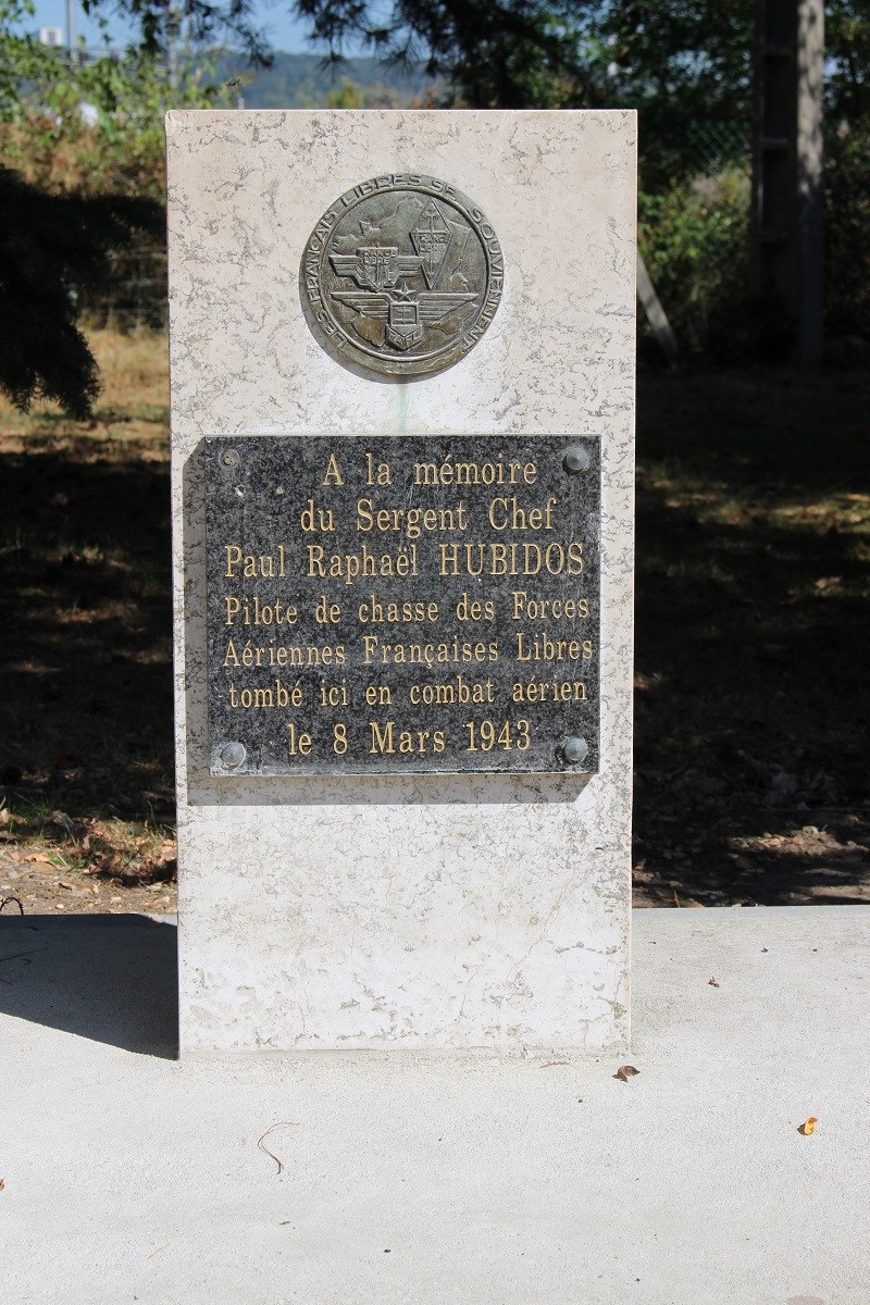 Memorial Sergent-chef Hubidos (ancien emplacement) Le Grand-Quevilly Seine-Maritime (76)