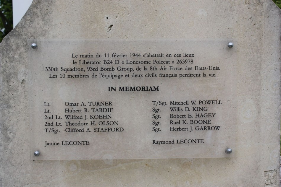 Memorial B-24 Liberator Lonesome Polecat Rouxmesnil-Bouteilles Seine-Maritime (76)