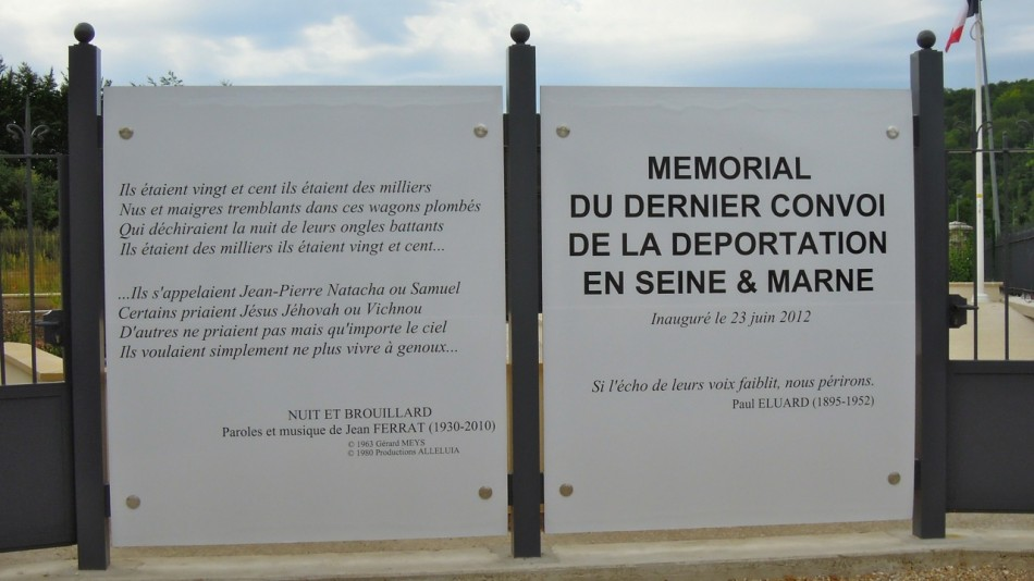 Plate In memory of Allied Airmen deported 1944 Sa鈉y-sur-Marne Seine-et-Marne (77)