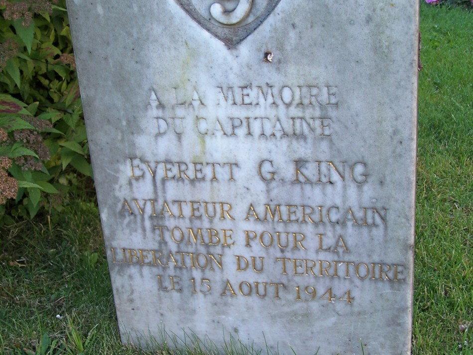 Memorial Capitaine Everett G. King Clairefontaine-en-Yvelines Yvelines (78)