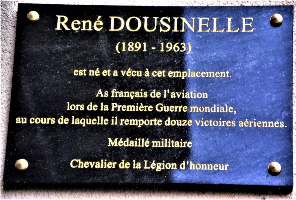 Plaque Slt René Paul Louis Dousinelle Maisons-Laffitte Yvelines (78)
