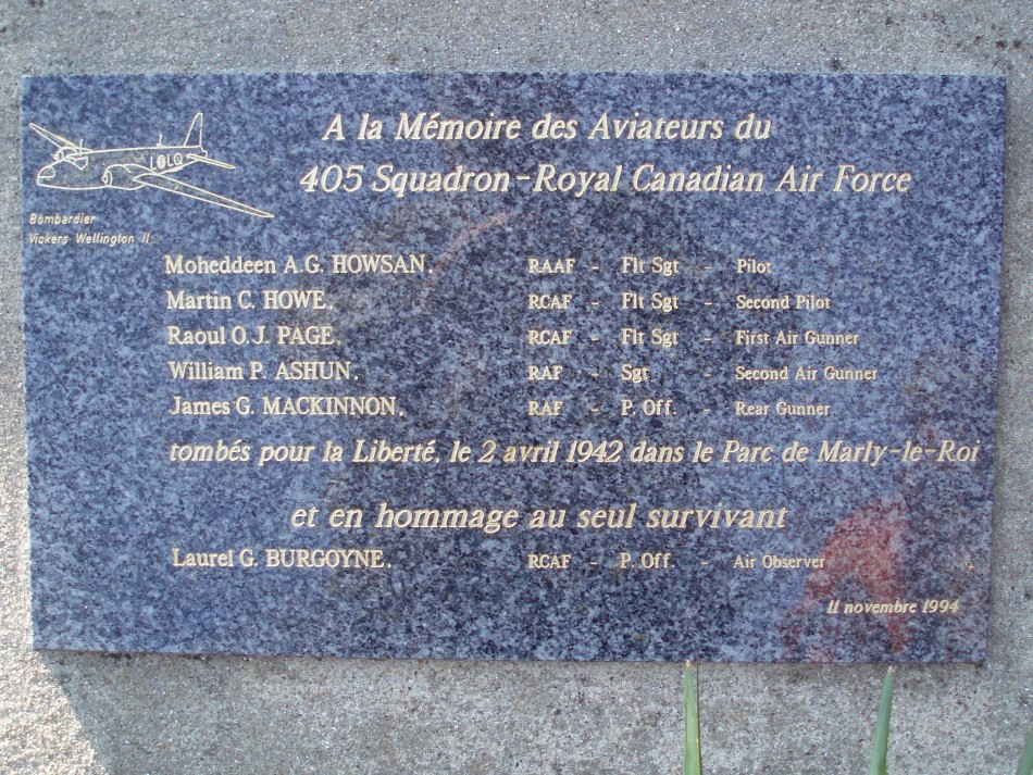 Memorial Wellington Z8527 Marly-le-Roi Yvelines (78)