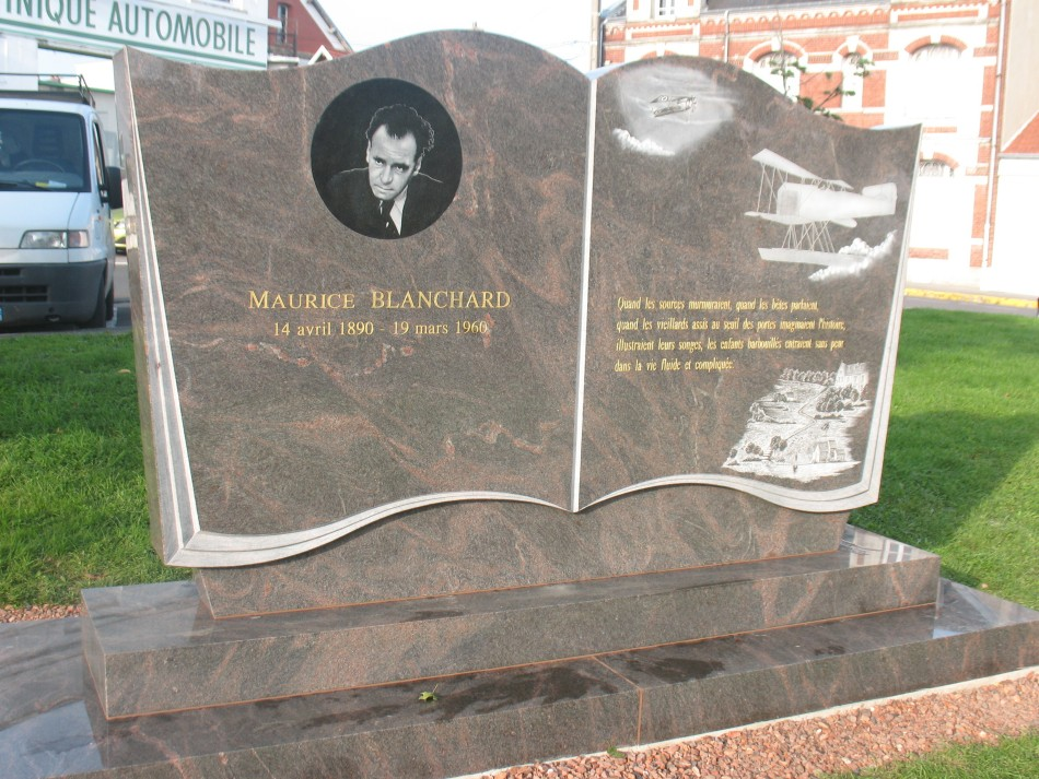 Memorial Maurice Blanchard (stèle) Montdidier Somme (80)