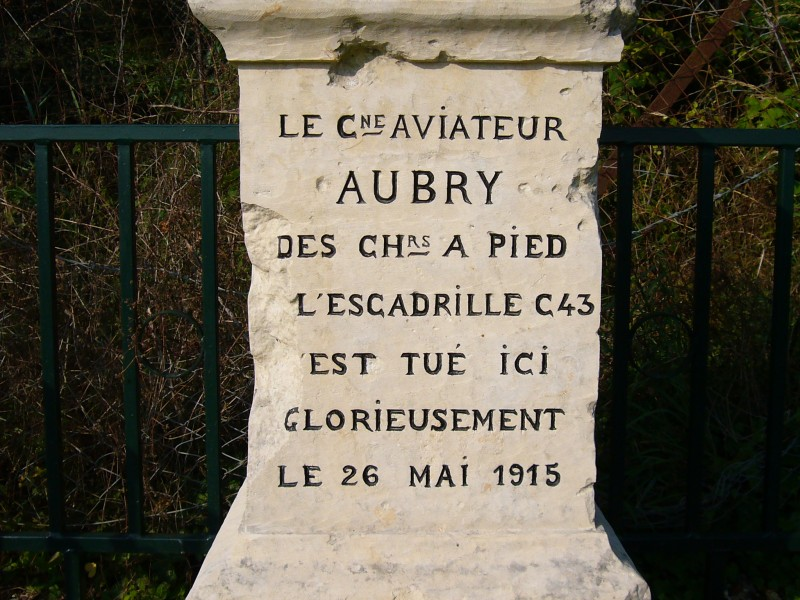 Memorial Capitaine Jules Louis Aubry Moreuil Somme (80)