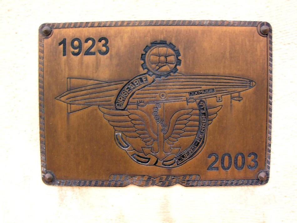 Dixmude memorial plaque