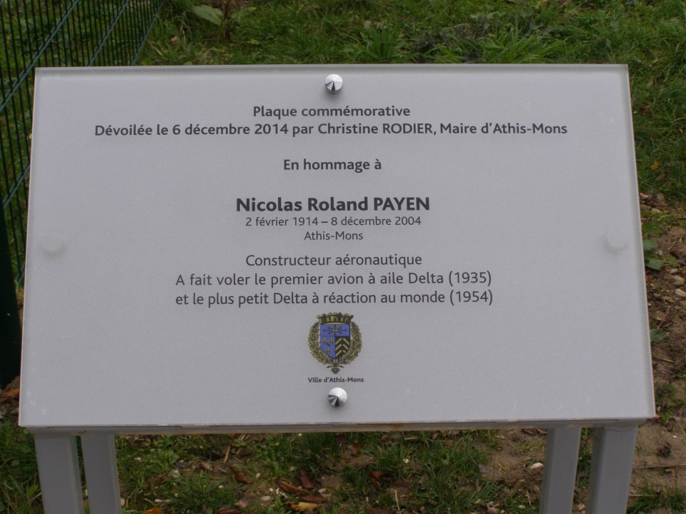 Plate Roland Payen Athis-Mons Essonne (91)